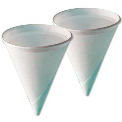 4oz Disposable Paper Cones Cups Water Cooler - Rolled Rim 200 - 10000
