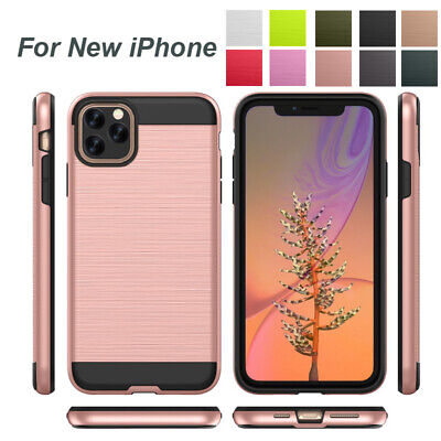For Apple iPhone 11 5.8'' 6.1'' 6.5'' 2019 Hybrid Silicone Hard Armor Case Cover