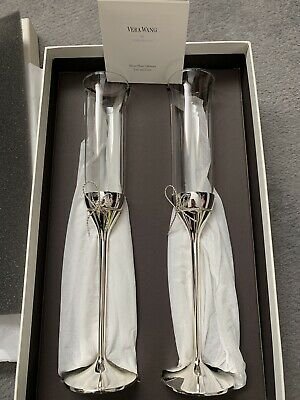Silver Plated Vera Wang Love Nots Champagne Flutes