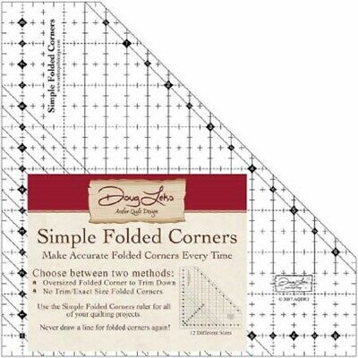 Simple Folded Corners Ruler ~ Flying Dutchman Runner Pattern Included