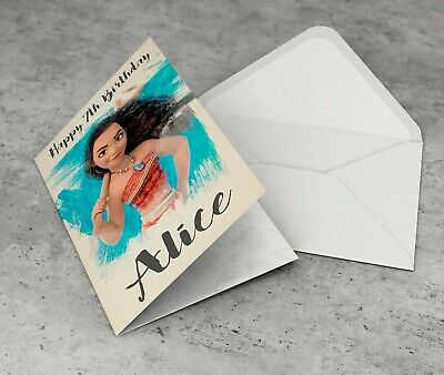 MOANA Personalised Birthday Card Granddaughter Friend Girl Female Sister Niece