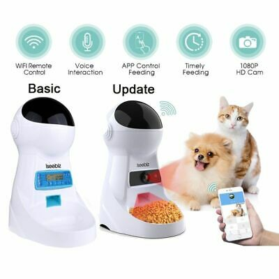 3L Automatic Pet Feeder Voice Record Pets Food Bowl Dog Cat Dispenser Container