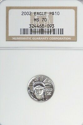 2002 $10 Platinum Eagle NGC MS 70