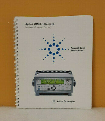 Agilent 53150-90015 53150A/151A/152A Microwave Frequency Counter Service Guide