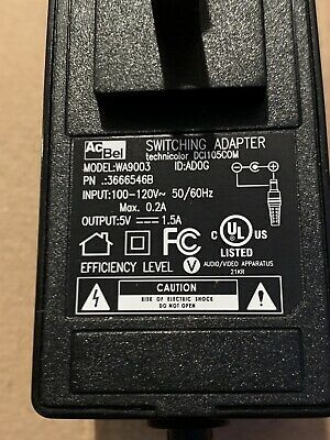 ACBEL AC BEL 5V / 1.5A Switching Adater WAA020 Power Supply ... on
