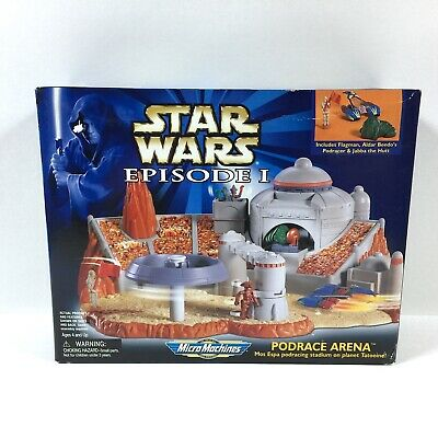 Star Wars Micro Machines 1999 Episode I 1 Action Playset Pod Race Arena NEW MIB