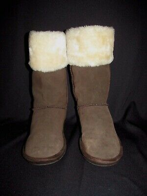f892b8c71dc SKECHERS AUSTRALIA BROWN Suede Faux Lining Winter Boots Womens Size ...