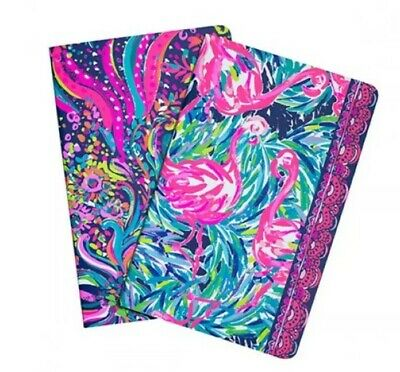Lilly Pulitzer BEACH LOOT Wellness & Fitness Pocket Notebook Set Of 2 NWT