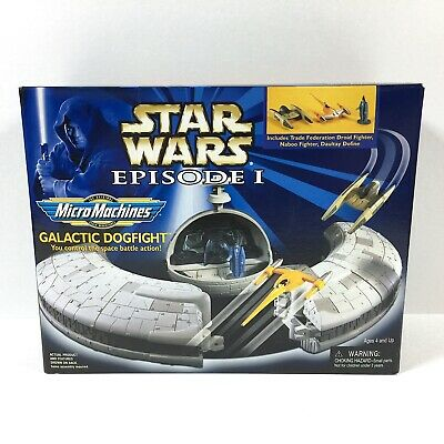 Star Wars Micro Machines 1999 Episode I 1 Action Playset Galactic Dogfight MIB