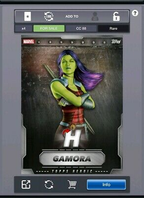 Topps Marvel Collect Digital Card Silver Heroic August VIP Gamora 2019
