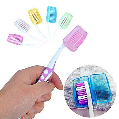 5PCS Toothbrush Head Covers Case Cap Travel Camping Hike Brush Cleaner Protect