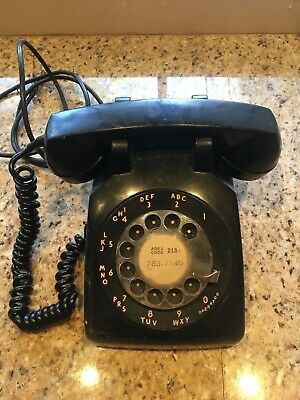 Vintage Bell System Western Electric Telephone Black Rotary Dial Desk Phone