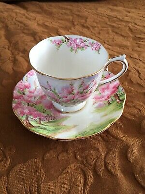 Royal Albert Bone China BLOSSOM TIME Tea Cup & Saucer Made in England