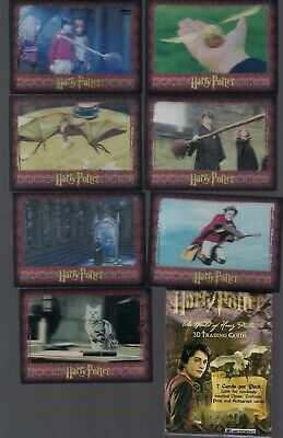 HARRY POTTER THE WORLD OF 3-D SER 1 ARTBOX '07 FULL 72 CARD BASE SET w/ WRAP NM