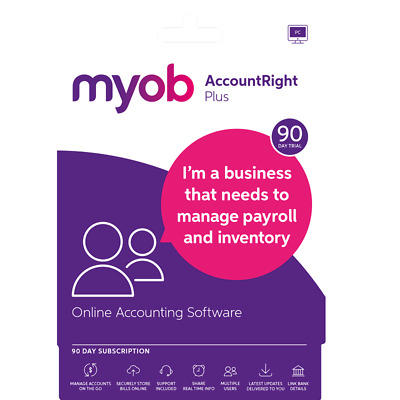 Myob AccountRight Plus Test Drive 90 Days Email [H096] CW2-MPSUB-90TD-RET-AU