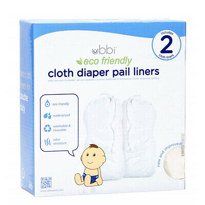 New Ubbi Bin 2 Pack Cloth Liner Bag Eco Friendly Newborn Nappy Diaper