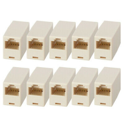 10x CAT5e RJ45 Female to Female Inline Coupler Coupling Joiner Connector