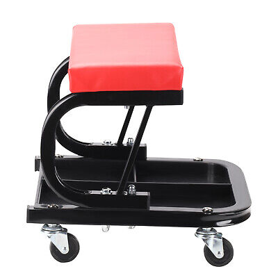 Creeper Garage Workshop Mechanic Trolley Seat Stool Swivel Wheels New UK