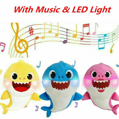 Baby Shark Plush Toys Singing English Song Music Doll Creative Gift for Kids HOT