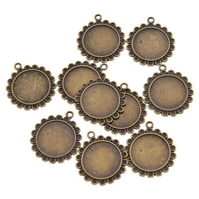 10pcs 2.8cm Bronze Bracelet Lace Base Setting Trays DIY Jewelry Pendant Bottom