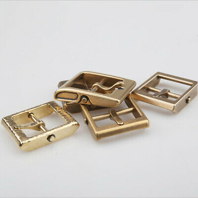 Fashion/Retro removeable style Solid Brass Pin Belt Buckle Leather craft DIY