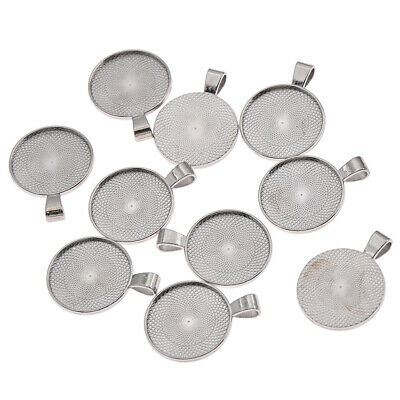 10pcs Silver Cabochon Bracelet Base Blanks Setting Trays DIY Jewelry Making