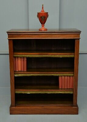 Victorian Mahogany Open Adjustable Bookcase