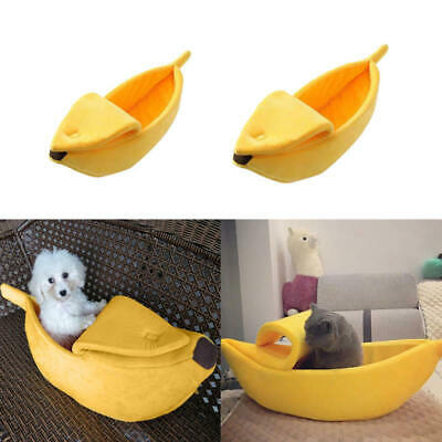 Banana Shaped Pet Dog Cat Sleeping Bed House Mat Kennel Doggy Puppy Cushio YFG