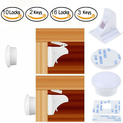 Invisible Magnetic Baby Child Proof Cupboard Door Drawer Safety Lock Catch