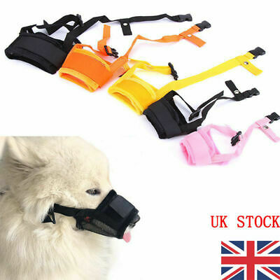 Adjustable STOP BARKING Anti Bark Soft Black Dog MUZZLE XS Small Medium Large X