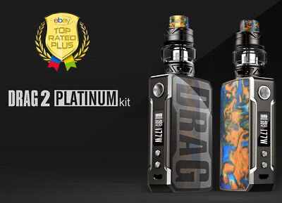Authentic VOOPOO² Drag² 2 Platinum Kit. Includes T2 Tank. Available Batteries!