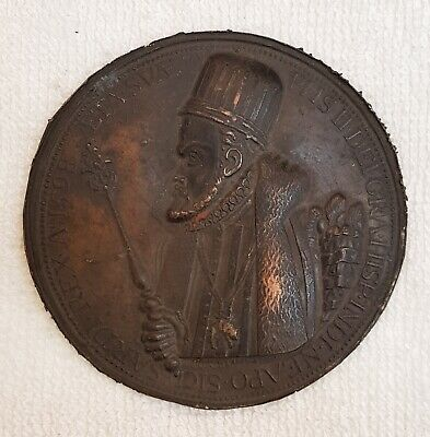 Wonderful Unique Greek Empire Bronze Huge Rare Coin / Medal With Greek 3rd King