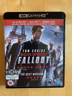 Mission: Impossible Fallout (4K Ultra HD + Blu-ray) [UHD] UK Played Once?