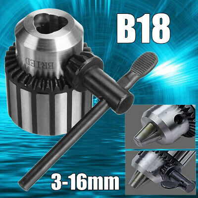 3-16MM B18 Key Type Clamp Drill Chuck Converter Lathe Shaft Mount Removable