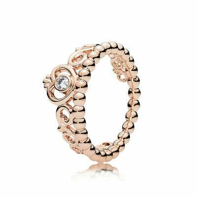 Tiara Princess Ring,Rose Gold Solid Sterling Siver, Hallmarked S925