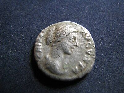 Genuine Ancient Roman Silver Denarius Coin,Empress Crispina,Good Detail,Scarce