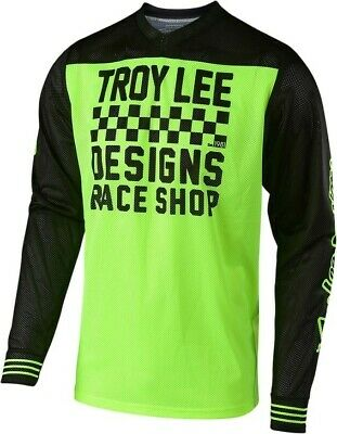 Troy Lee Designs RACESHOP TLD GP AIR 18.1 Motocross Jersey Yellow Adults