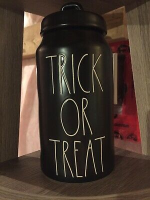 Rae Dunn Trick Or Treat Canister Halloween LL New!!