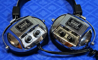 Vintage Sound MD-403V Quadraphonic Headphones, Tested Working, Good Condition.