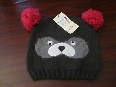 Childs Teddy Bear Woolly Bobble Hat (Child Size)
