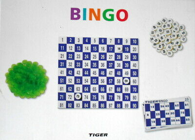 Bingo Lotto Traditional Family Party Game Play Set, cards. tokens.numbers,