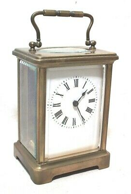 Antique French Brass Carriage Clock - Super Clean & Running