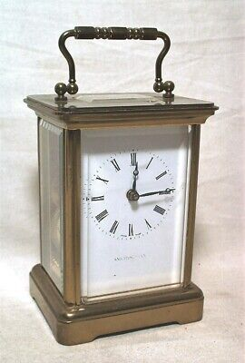 Matthew Norman 1754 Brass 11J Carriage Clock W/ Smithsonian Dial Clean & Running