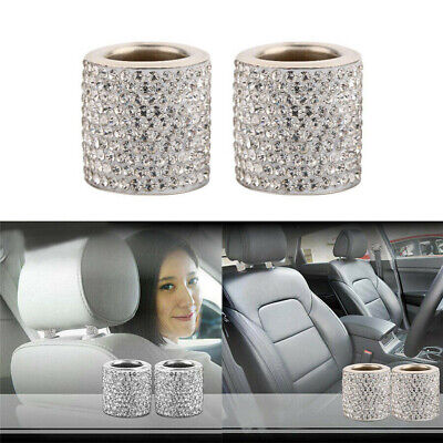 Cars Seat Headrest Decorative Ring Bling Accessories Artificial Crystal Diamond
