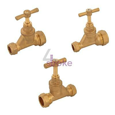Brass Poly Stopcock Copper Tube Compression Stop Tap Isolation Valve Mains Water