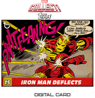2019 VINTAGE PANELS WAVE 2 IRON MAN DEFLECTS Topps Marvel Collect Digital