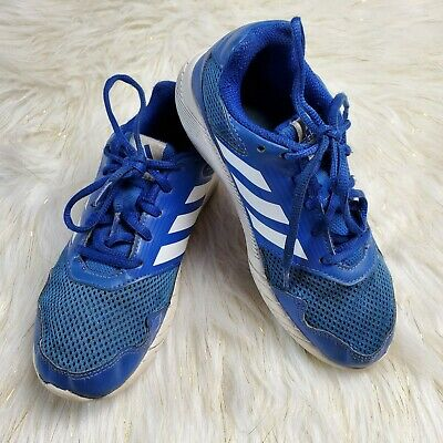 Adidas Blue White Stripes Sneakers Tenni Shoes Lace Up Kids 3 Back To School