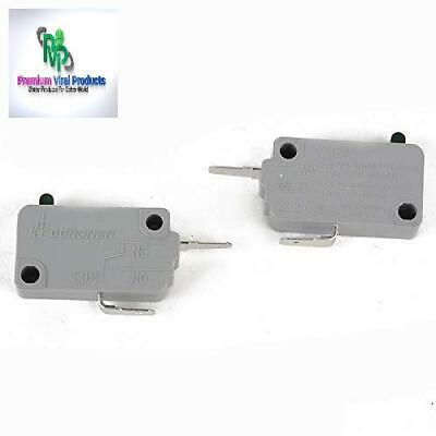 (2Pcs) Microwave Oven Door Interlock Switch, 16A 125/250V, Normally Closed For M