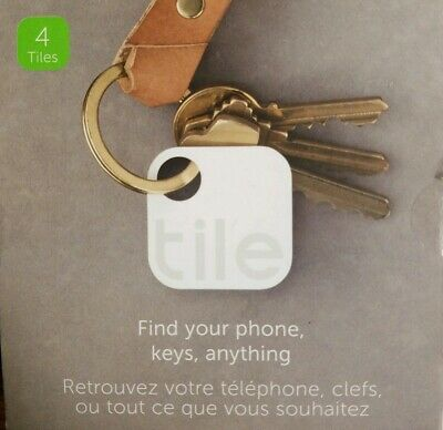 Tile Pack of 4 Tiles Wireless Key Finder Item Tracker Model T1003
