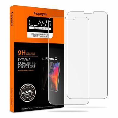 Spigen Tempered Glass iPhone Xs/X Screen Protector [Sensor Protection] 2 Pack